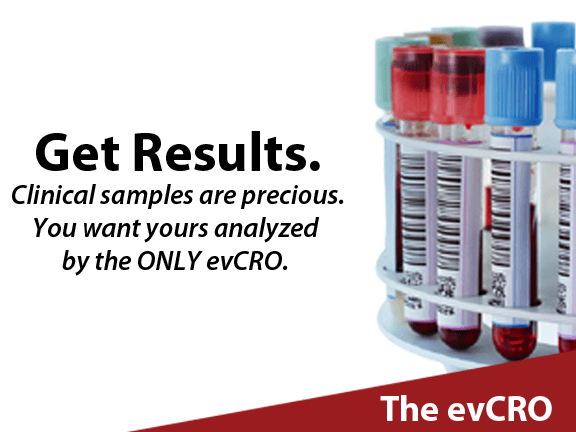 Exosome (and other EV) analysis services banner.